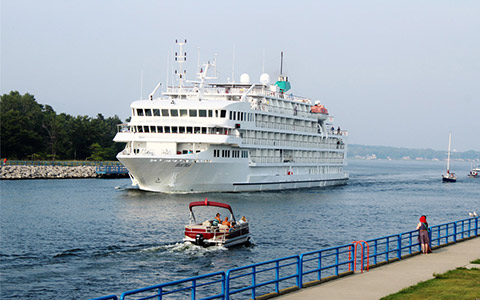 Cruise Ship in the Great Lakes